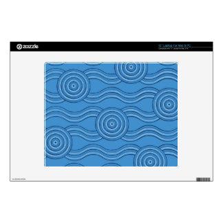 Aboriginal art ocean laptop decal
