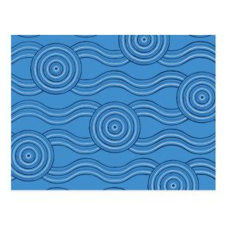 Aboriginal art ocean postcard