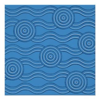 Aboriginal art ocean poster