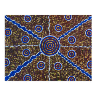 aboriginal art painting australia abstract design postcard