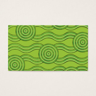 Aboriginal art rainforest business card