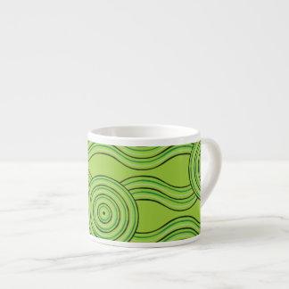 Aboriginal art rainforest espresso cup