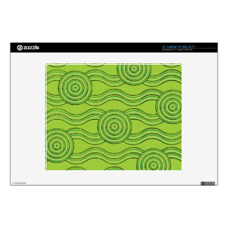 "Aboriginal art rainforest skin for 12"" laptop"