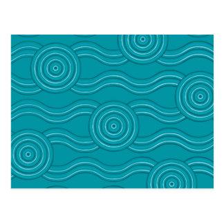 Aboriginal art reef postcard