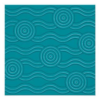 Aboriginal art reef poster