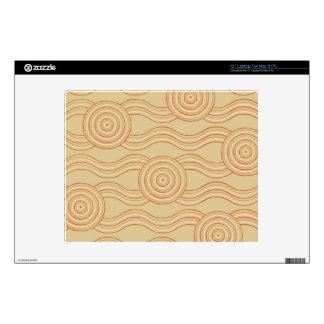 Aboriginal art sandstone decals for laptops
