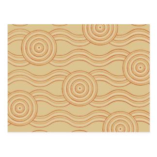 Aboriginal art sandstone postcard