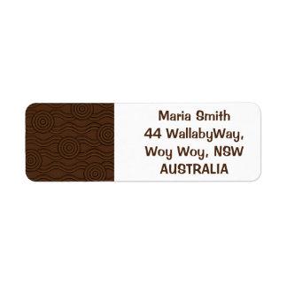 Aboriginal art soil label