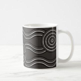 Aboriginal art storm coffee mug
