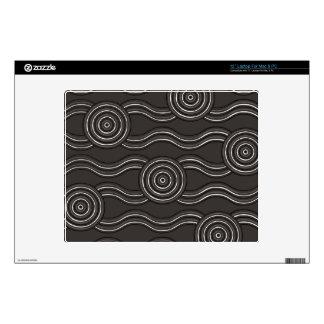 Aboriginal art storm laptop skin