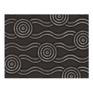 Aboriginal art storm postcard