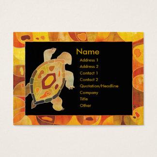 Aboriginal Art Turtle Business Cards