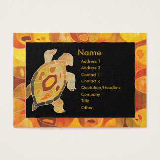 Aboriginal Art Turtle Business Cards