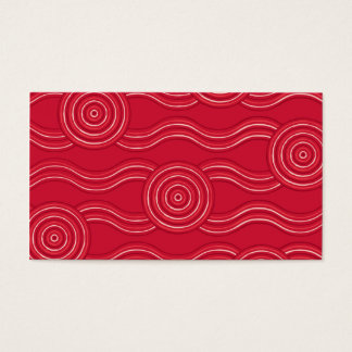 Aboriginal art waratah business card