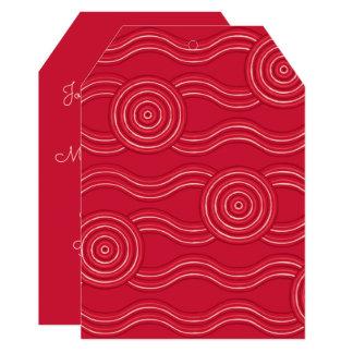 Aboriginal art waratah card