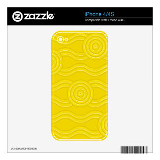 Aboriginal art wattle iPhone 4 skin