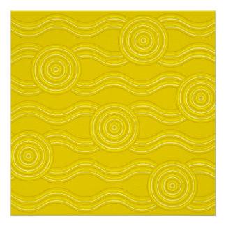 Aboriginal art wattle poster