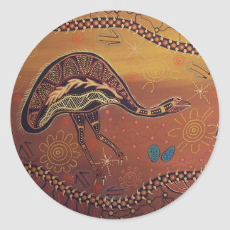 Aboriginal Art Wild Emu Sticker