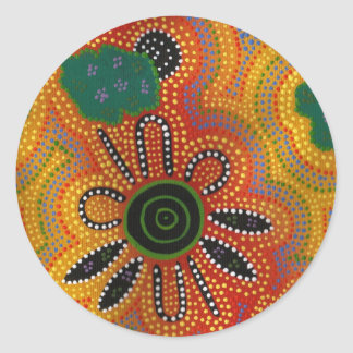 Aboriginal Artwork Classic Round Sticker