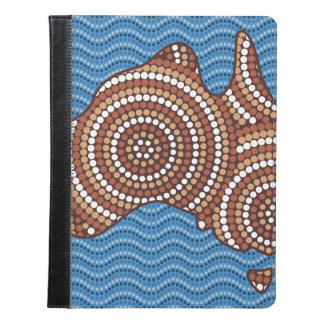 Aboriginal Australia dot painting iPad Case