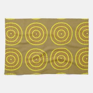 Aboriginal beige kitchen towel