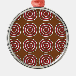Aboriginal brown metal ornament