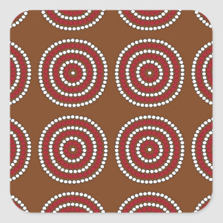 Aboriginal brown square sticker