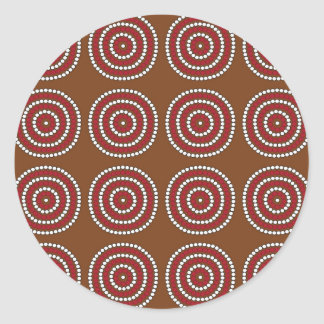 Aboriginal brown classic round sticker