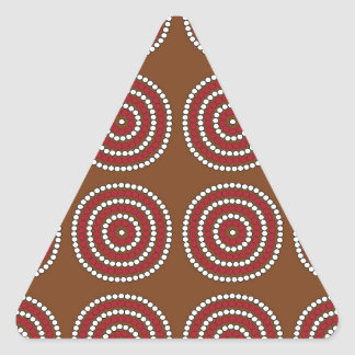 Aboriginal brown triangle sticker