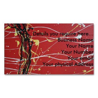 Aboriginal Colors I, Magnetic Business Card