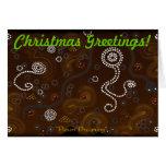 Aboriginal Desert Art Christmas Greeting Card
