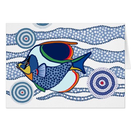 Aboriginal Dot Art Fish-01 Card