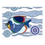 Aboriginal Dot Art Fish-01 Post Cards