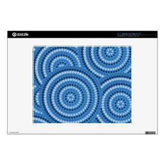 """Aboriginal dot painting 12"""" laptop skin"""