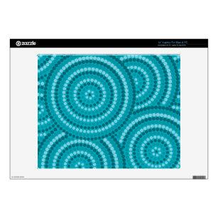 """Aboriginal dot painting 14"""" laptop decal"""