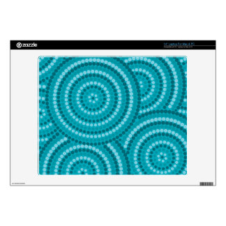 "Aboriginal dot painting 14"" laptop decal"