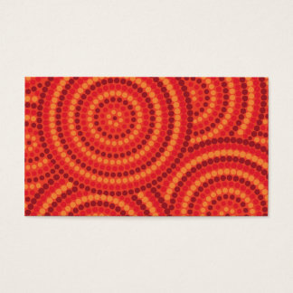 Aboriginal dot painting business card
