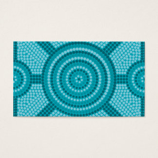 Aboriginal dot painting business card
