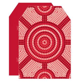 Aboriginal dot painting card