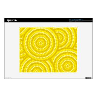Aboriginal dot painting decal for laptop