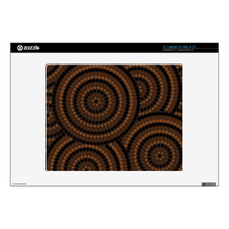 """Aboriginal dot painting decals for 12"""" laptops"""