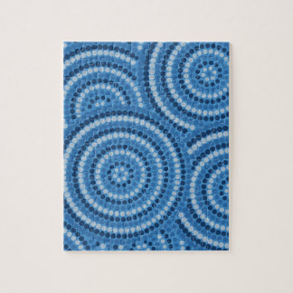 Aboriginal Dot Painting Jigsaw Puzzle