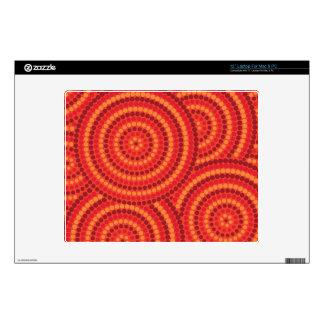 Aboriginal dot painting laptop skins
