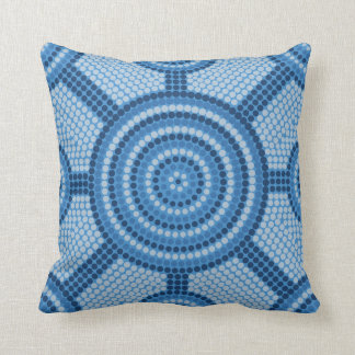 Aboriginal dot painting throw pillow