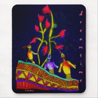 Aboriginal Dreamtime Birds by S Ambrose Mouse Pad