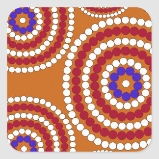 Aboriginal edition square sticker
