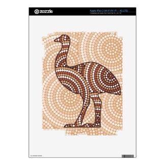 Aboriginal emu dot painting iPad 3 skin