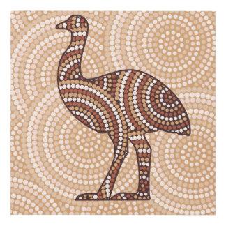 Aboriginal emu dot painting panel wall art