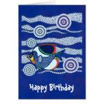 Aboriginal Fish Greetings 3 Card