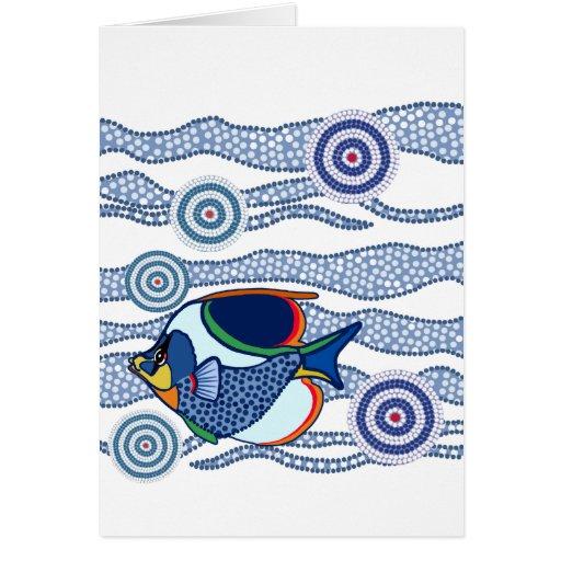 Aboriginal Fish Greetings Card